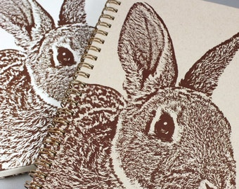Recycled Rabbit Wire-Bound Journal