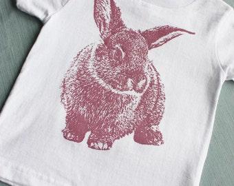 Shy Bunny, Rabbit Child TShirt, Size 2T