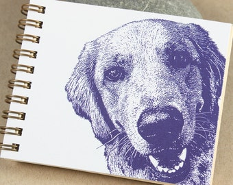 Mini Journal - Purple Golden Retriever