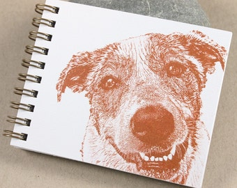 Mini Journal - Rust Smiling Pup