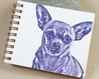 Mini Journal - Purple Chihuahua