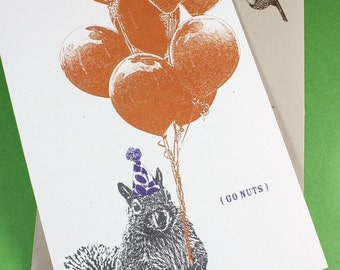 Go Nuts - Silly Squirrel Birthday Card