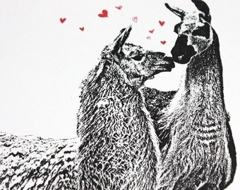 Whole LLAMA Love - Valentine or Anytime Greeting Card