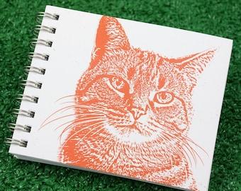 Mini Journal - Tabby Cat in Tangerine