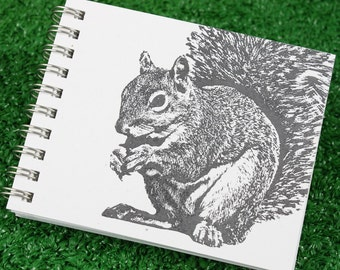 Mini Journal - Super Squirrel in Gray