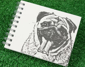 Mini Journal - Pug in Gray
