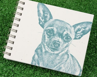 Mini Journal - Chihuahua in Dusty Blue