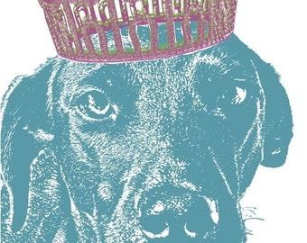 Pet Royalty - Custom Pet Portrait with a Crown, 8X10 Print
