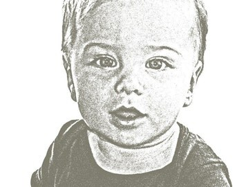Custom Baby or Child Portrait - 11 X 14 inches