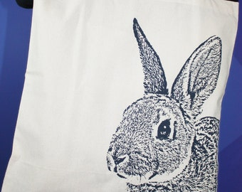 Year of the Rabbit Tote Bag in Navy