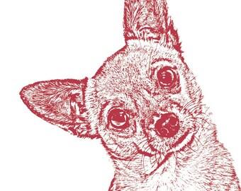 8x10 Custom Pet Portrait , DOG, CAT