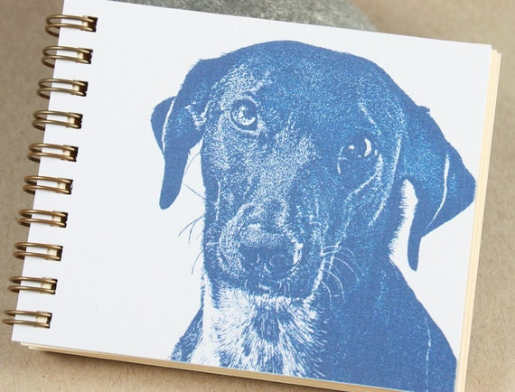 Mini Journal - Little Blue Dog
