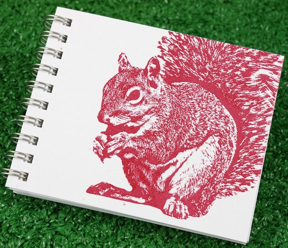 Mini Journal - Super Squirrel in Red