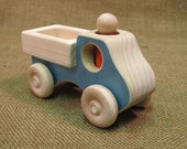Wooden Toy Pick-up Truck with person