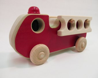 Wooden Toy Fire Engine truck