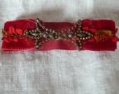 ribbon bracelet with vintage clasp