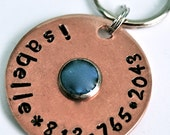 Turquoise Center Copper ID tag