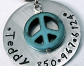 Super Sturdy Pet tag with a PERFECT Turquoise dangly