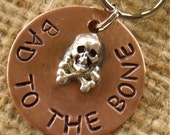 BAd to the bone pet tag...info on the back - Super secure soldered skull