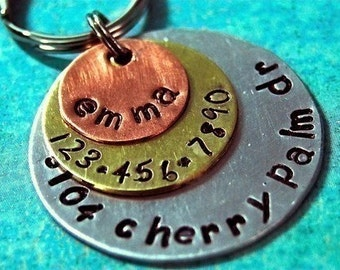 Multi Metal Triple Layered ALL IN ONE Pet Tag