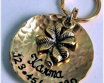 Karma Brass ID Tag / NEW Design and New Font
