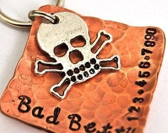 Custom Pet id tag / Bad Betty Skully