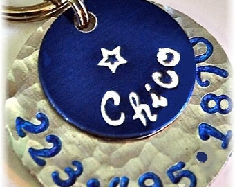 CHICO blue 1inch pet tag