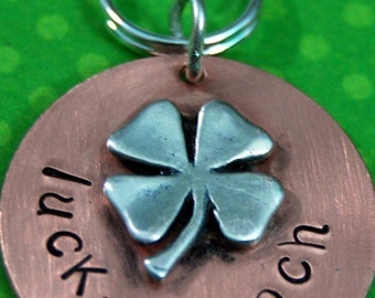 LUCKY POOCH id tag - Pets info on the back  OR Customize front to say anything you like