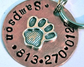 Perfect Paw 1inch copper and sterling pet id