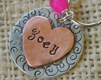 Swirly Girly - pet id tag