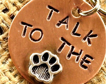 TALK To The Paw Custom Pet Tag - ID info on the back