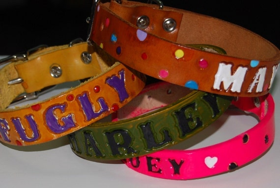 Polka Dot Custom ID Collar YOU CHOOSE THE COLORS