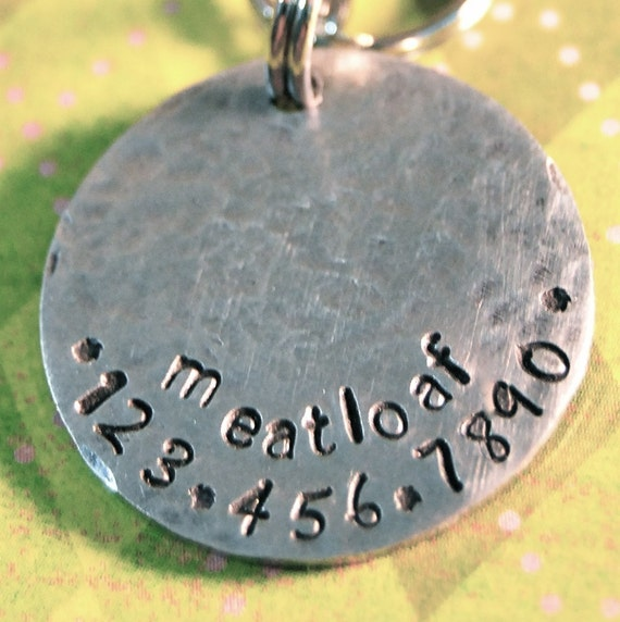 Super Sturdy Hammered Aluminum Pet tag Front and Back can be stamped