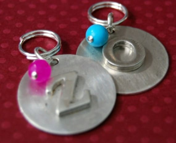 Sterling Initial Fancy Pooch Pet ID Tag     Info on the back name address phone