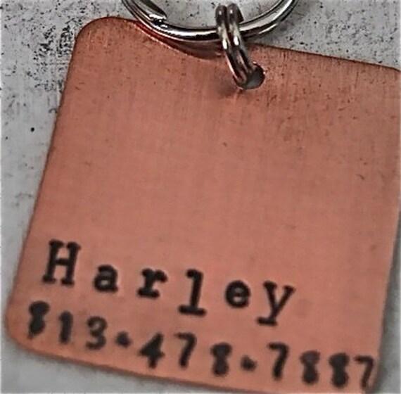 Square O Copper Pet id tag