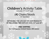 CHRISTMAS SPECIAL -- Activity Table w/ Four (4) Chairs - FREE SHIPPING