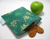 Whimsical Frogs Eco Green Sandwich Bag
