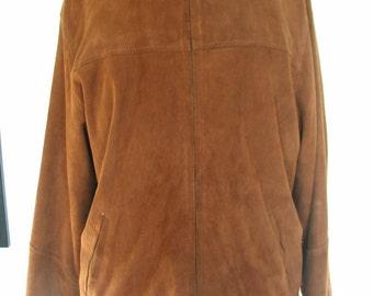 JM Industria Argentina Tobacco Suede Jacket Men's Size S Women's M Tall