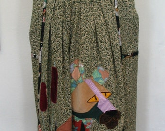 Fabulous Handmade Pink Panther Applique Dress Size S to M