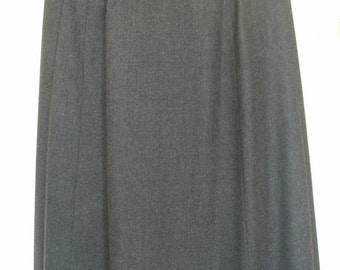 Granite Grey Wool A-Line Skirt Size 2-4