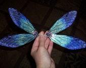 LARGE 11-inch OOAK Fairy Cicada Wings (OOAK Fairyland) Green