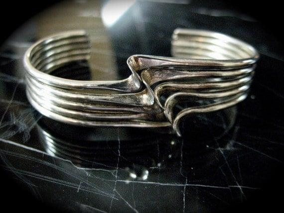 Vintage Alpaca  Silver Cuff Bracelet