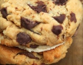 Vegan  Peanut Butter and Chocolate Chip  Whoopee Pies Cookie Sandwich Perfect vegan Gift