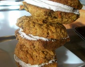 Vegan Tropical Whoopee Pies  Macadamia and Pineapple and Carrots and Creme Middle Cookie