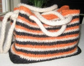Striped Wool Felted Purse