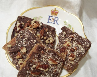 Royal Toffee Bars-Chocolate-Nuts-Carmel Goodness-The Best for the Best-Fit for a Queen or King
