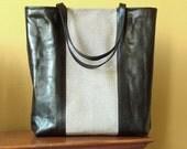 Caffe Latte Stingray & Calfskin Leather Shopper