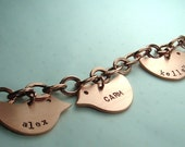 Mothers Day Personalized Charm Bracelet 3 birds  FREE Shipping
