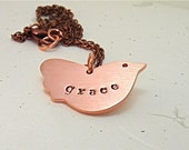 Mothers Day New Baby Personalized Bird Pendant  Ruffles