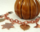 Autumn Family Tree Leaf Personalized Hand Stamped Heirloom Bracelet